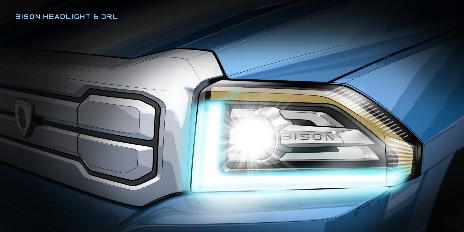 Havelaar-Bison headlights Keage Concepts Calgary Alberta Automotive Design