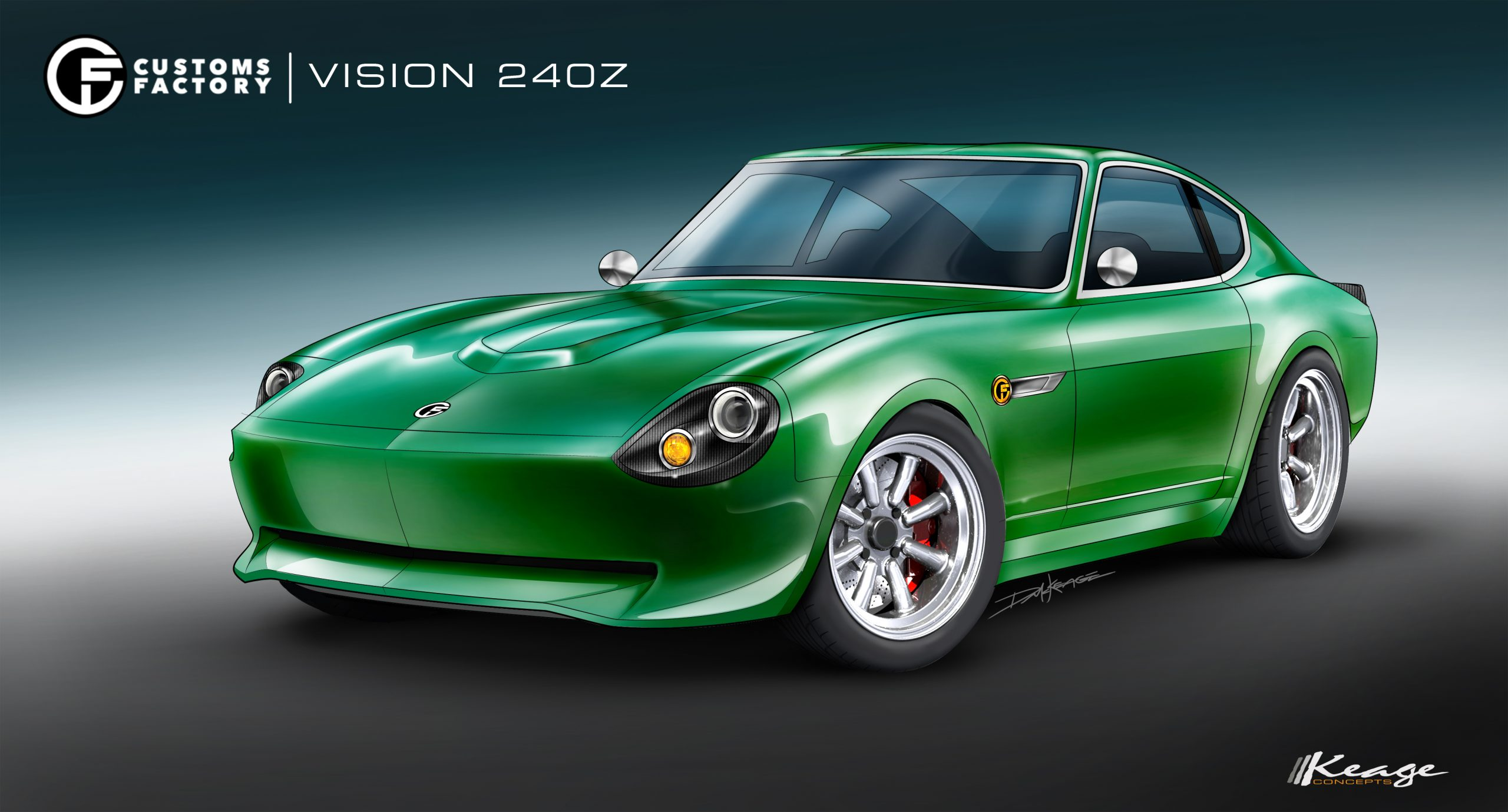 CUSTOMS FACTORY VISION 240Z Keage Concepts Calgary Alberta Automotive Design